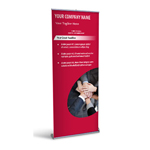Retractable Banner Display w/ Professional Design - TmWk1