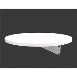 Round Side Shelf fo Blade Monitor Kiosk Display