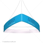Blimp Trade Show Ceiling Banner 10 Trio Curved