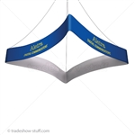 Blimp Trade Show Ceiling Banner 12 Quad Curved