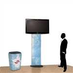Standroid Trade Show Monitor Kiosk