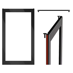 "40"" Black Touch Panel System in carton for V2"