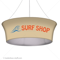 Blimp Trade Show Ceiling Banner 10 Tapered Tube