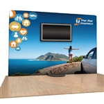 10ft Eclipse Tension Fabric Trade Show Display