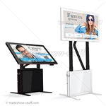 "Sslab 50"" LED Touch Screen Monitor Stand Kiosk"