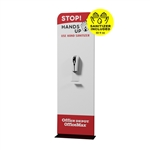 2ft Portable Hand Sanitizer Station with graphic