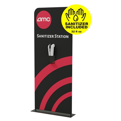 3ft Portable Hand Sanitizer Station with graphic