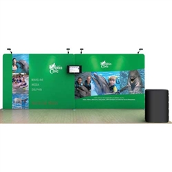 20ft Dolphin WaveLine Fabric Trade Show Display