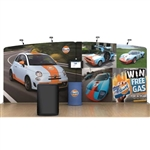 20ft Gulf WaveLine Fabric Trade Show Display