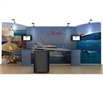 20ft Marlin WaveLine Fabric Trade Show Display