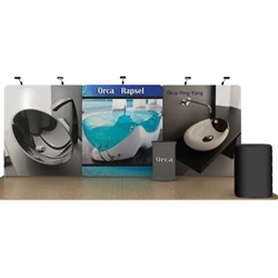 20ft Orca WaveLine Fabric Trade Show Display