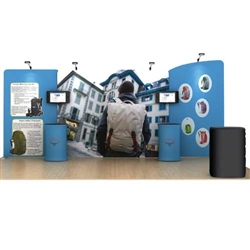 20ft Osprey WaveLine Fabric Trade Show Display
