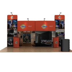 20ft Reef WaveLine Fabric Trade Show Display