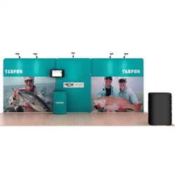 20ft Tarpon WaveLine Fabric Trade Show Display