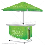 Personalized Outdoor Bar; Custom Outdoor Bar with Umbrella
