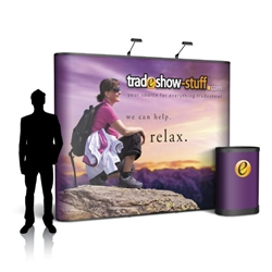 Campaign II 10ft Straight Pop Up Display