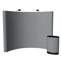 Economy 10ft Curved Fabric PopUp