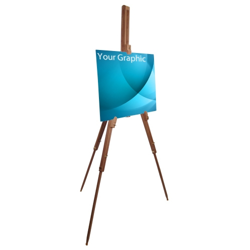 bamboo trade show display easel stand - Display Easel