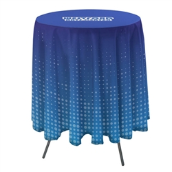 Full Color Imprint Round Bar Table Cover