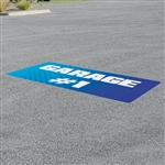 Outdoor Adhesive Asphalt Decals