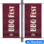 30in Double-Span Street Pole Banner