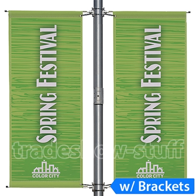 30in Spring Arm Street Pole Banner
