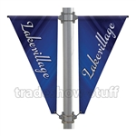 Triangle Double-Span Street Pole Banner