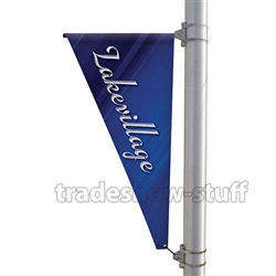 Triangle Single-Span Street Pole Banner