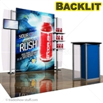 ECO-1060 Backlit 10 Hybrid Trade Show Exhibit 10' x 10'