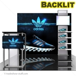 ECO-1066-B Backlit 10 Hybrid Trade Show Exhibit 10' x 10'