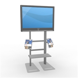 Trade Show Monitor Kiosk w/ Literature Rack