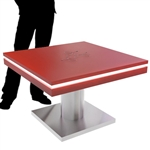 Mobile Device Charging Station Kiosk Square Table