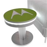 Round Mobile Device Charging Table