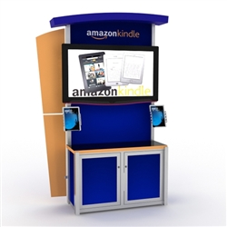 Hybrid Trade Show Monitor Kiosk Display