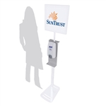 "MOD-9002 Hand Sanitizing Station with 13"" x 13"" Header Graphic"
