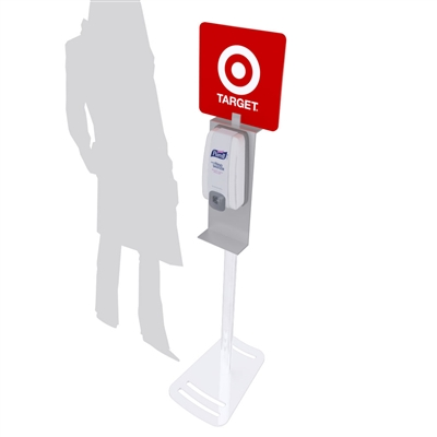 MOD-9003 Hand Sanitizing Stand with Graphic