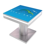 Rental Mobile Device Charging Station Square Table