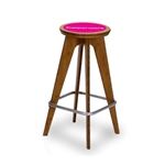 OTM Bamboo Portable Trade Show Stool