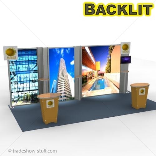 VK-2318 Visionary Designs SEGUE LED Lightbox Backwall Trade Show Display