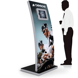 64 in Double Sided iPad Kiosk Display