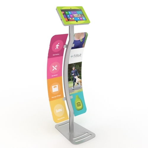 Expo Stands Kioska : Surface kiosk stand enclosure w graphics for trade shows