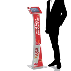 Pro iPad Kiosk Stand Locking Clamshell for Trade Shows w/ Graphics