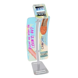 iPad Tablet Stand Locking Clamshell w/ Graphics