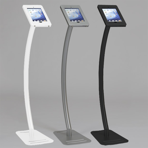 Expo Stands Kioska : Sleek ipad kiosk stand w lockable clamshell for trade shows