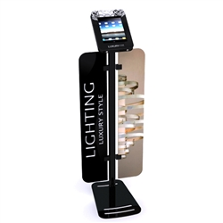 Workstation iPad Kiosk Stand Locking w/ Graphics