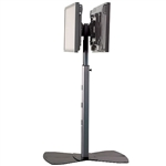 Trade Show Dual Monitor Floor Stand