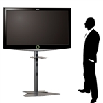 Trade Show Large Monitor Floor Stand