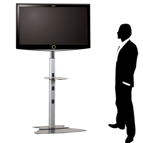 Trade Show Monitor Stand Medium Flat Panel Floor Stand