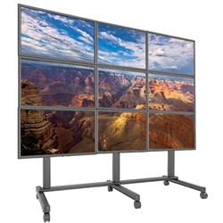 Trade Show 3x3 Video Wall Cart