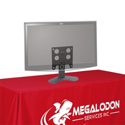Trade Show Large Monitor Table Top Stand